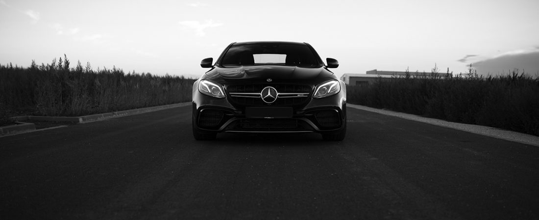Going all Black&White with the Mercedes-Benz E63s AMG
